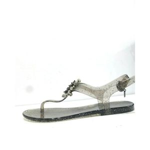 Coach Gray Hilda Glitter Jelly Sandals